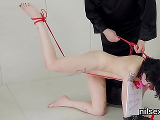 Flirty nymphomaniac was taken in anal hole asylum for awkward therapy