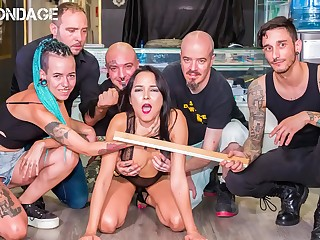 FORBONDAGE  Brazilian Babe Francys Belle Humiliated By BDSM Gang
