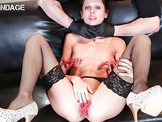 FORBONDAGE  German Stunner July Sun Humiliated And Punished By Mad Master