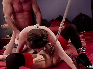 Lesbian made and sub share masters dick