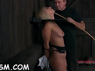 Ambitious ash-blonde chick is about to cum