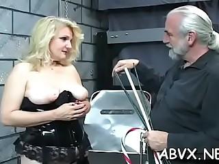 Delightful woman likes fine tart's