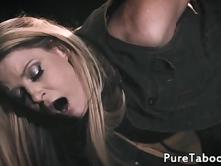 Ash-blonde honey fucked then gets licked by lez