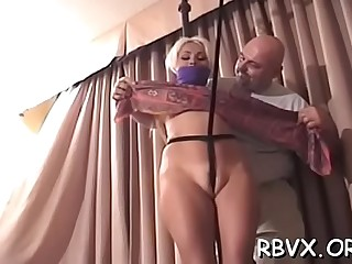 Lusty girl is making her first erotic video
