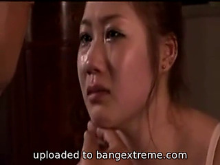 Oriental gal let out slap,threatening slavery,threatening castigation