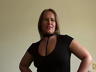 Cream eating subslut ashley rider instructed by dominant