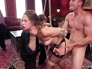At bdsm party babes anal fucking