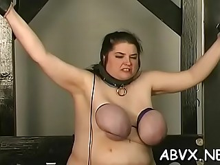 Lusty babe is fucking huge dildo on her chair