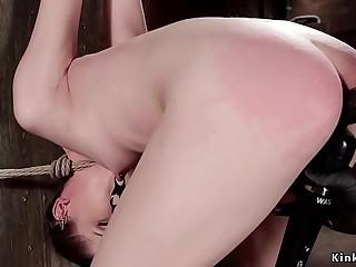Small tits slave pussy dildo fucked
