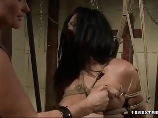 Horny bitches playing kinky bondage games