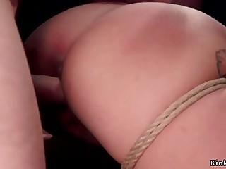 Skinny small tits slut rough banged bdsm