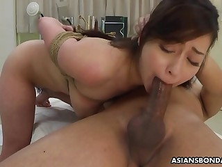 Busty Japanese chick, Maria Ono got tied up and fucked