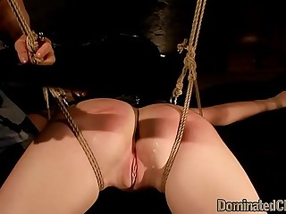 Spanked slave submits while hardfucked