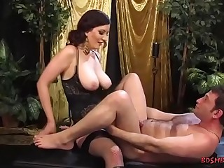 Excited babe uses a strapon to fuck a sensual dude