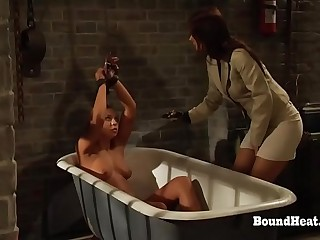 The Education of Adela: Lesbian Girl In Chains Screams During Mistress'_s Slave Training