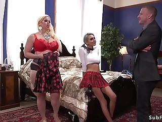 Monster tits Milf anal banged in bondage