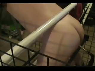 my mistress fucking my ass in a cage