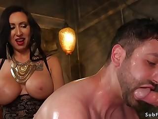 Alt couple gangbang fucking slave