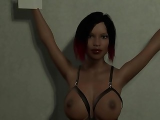 SM slut Elisha from Dr. Deviant VR game