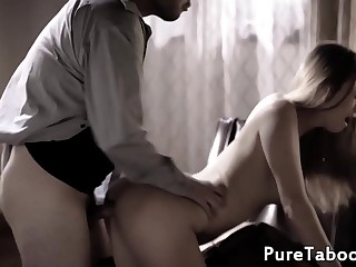Teen babe getting doggystyled in therapy