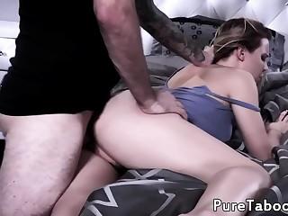 Hot blonde babe pussy fucked doggystyle