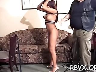 Vigorous chick is sometimes using a vibrator