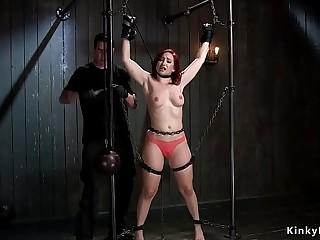 Blindfolded slut gets big ass paddled