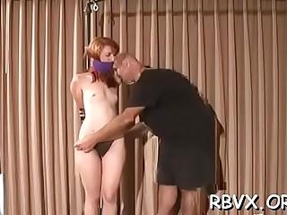Angel manhandles horny whore