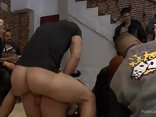 Brunette Big ass public disgrace