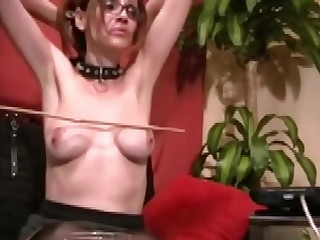 Milf with glasses enjoys hard treatment