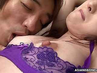 Asuka Soma can only moan while getting stimulated with vibrators