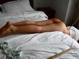 Slender Tamara punished with the cane