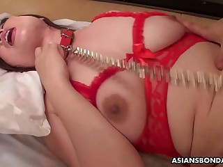 Reiko Shimura gets fucked while her hubby is working rock hard