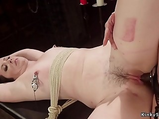 Domme makes lesbian sub anal tart's her