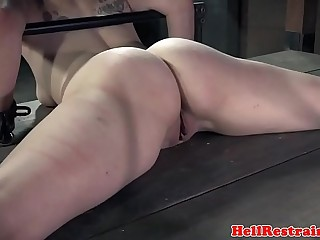 Bigbooty sub getting toyed and whipped