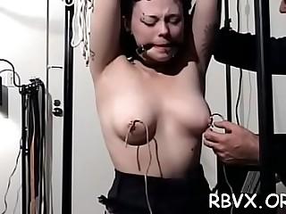 Passionate babe is masturbating just for fun
